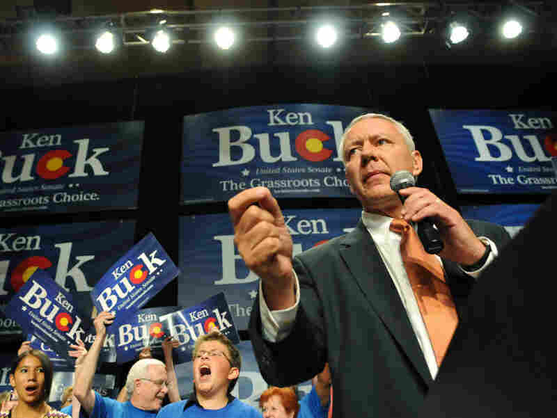 Ken Buck accepts the GOP nomination for Senate on Aug. 10.