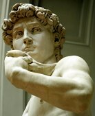 Michelangelo's famous marble statue of 'David'