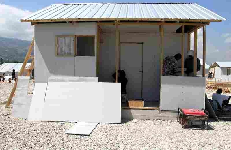 Concern Worldwide's shelters are larger than some other designs. They come with a small front porch and a private composting toilet. However, they cost twice as much as some simpler models, and so far, few of them have been built.