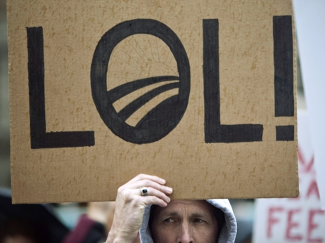 Obama LOL protest sign