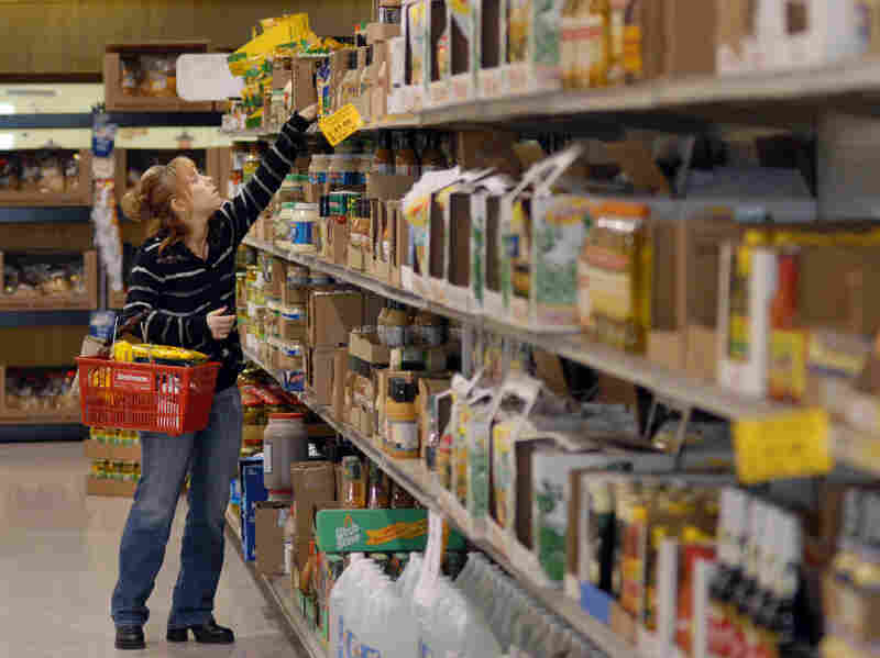 Discount grocery outlet sells overstocked and out-of-date food.
