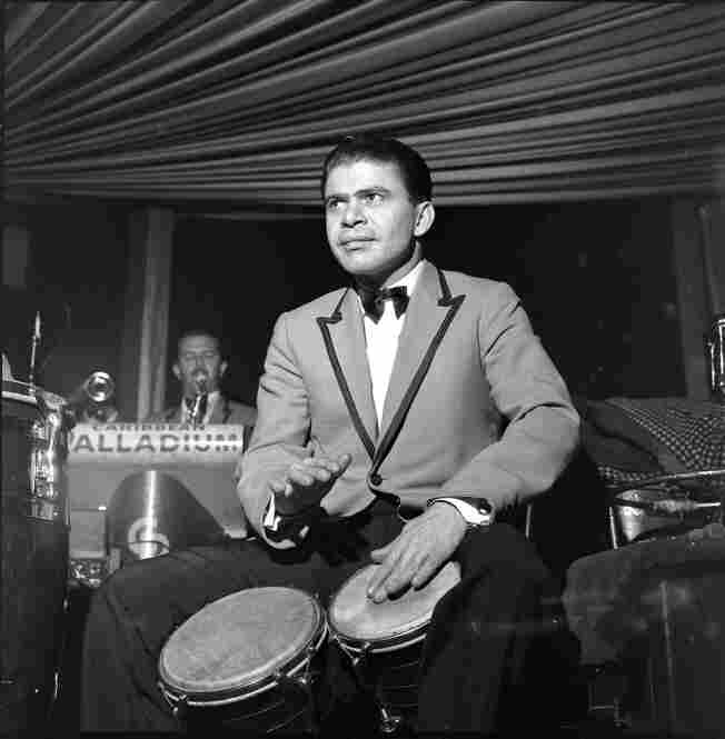 Vitin Gonzalez, Tito Rodriguez's bongocero, who was my first contact with Latin musicians. This photo was taken in the Palladium Ballroom in 1962.