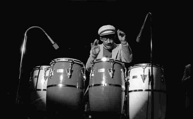 "Carlos ""Patato"" Valdes onstage in Tokyo when he appeared with the group I founded, Latin Percussion Jazz Ensemble, in 1979, which also featured Tito Puente."