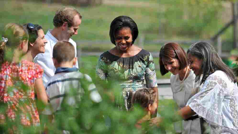 Michelle Obama at Stone Barns Center in Pocantico Hills, N.Y.