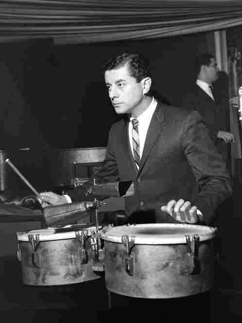 The first photo I ever took of Tito Puente. It was in 1962 in the Palladium Ballroom. Puente remained a friend and LP endorsee until his death in 2000.