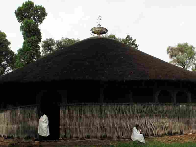 A monastery, believed to have been established in the Middle Ages, on an island in Lake Tana. Unlike other monasteries on the lake, this one is open to both men and women. Some of the monastery's pillars, made from Abyssinian juniper trees, are said to be original.