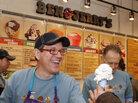 Solheim scoops ice cream