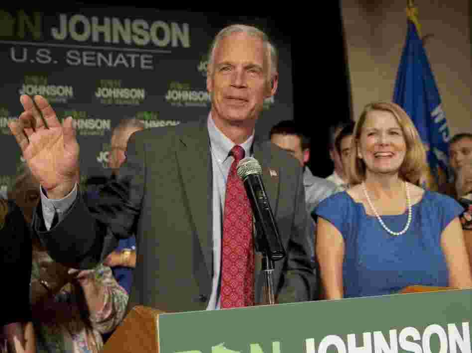 Ron Johnson, Wisconsin Republican candidate for U.S. Senate, and wife Jane