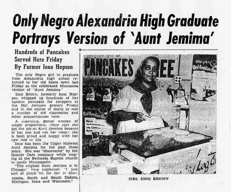 Norris' maternal grandmother, Ione Brown, featured in a northern Minnesota newspaper, the Park Region Echo, on Oct. 5, 1950. She was 47 years old.