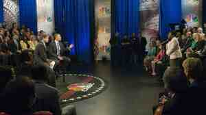 President Obama responds to Velma Hart during last week's CNBC town hall.