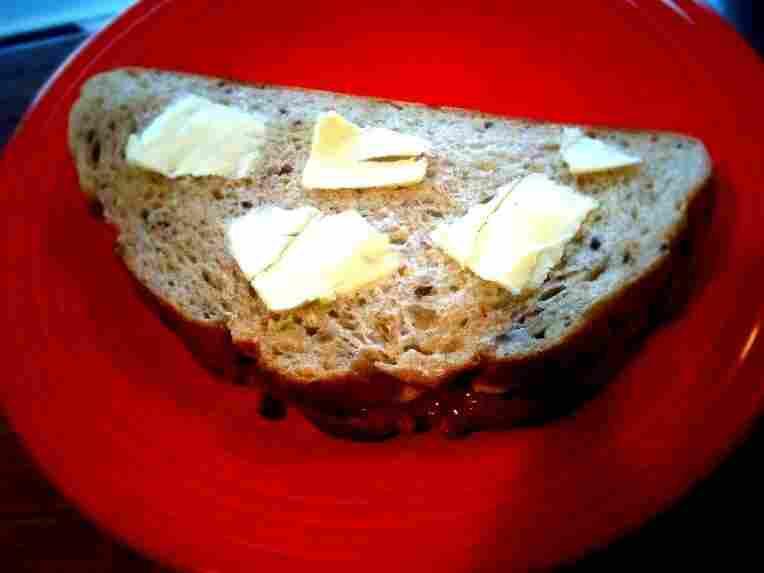The Elvis sandwich, pre-grilling.