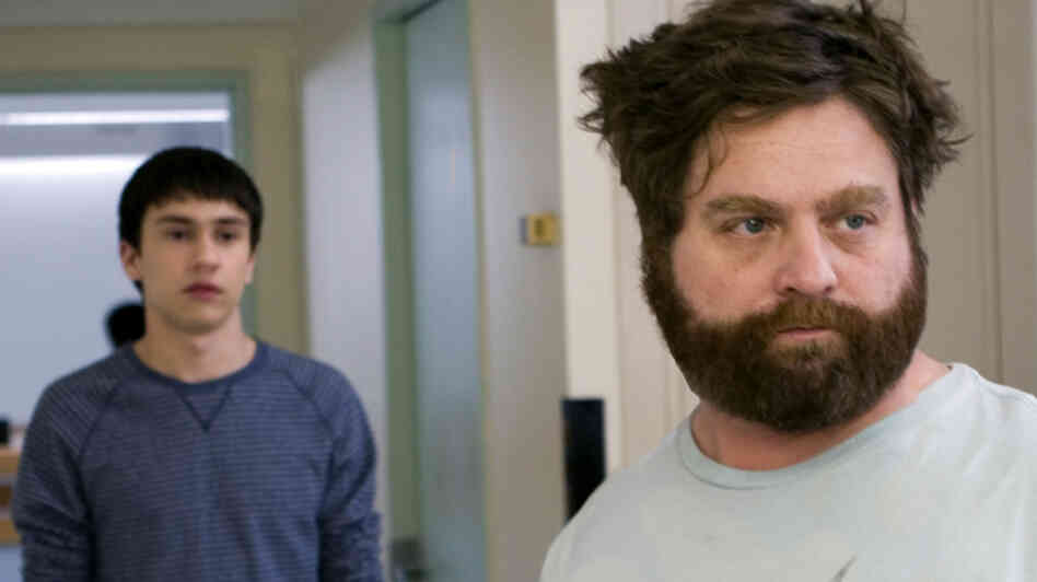 Keir Gilchrist and Zach Galifianakis