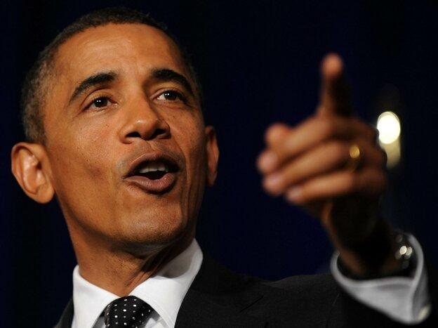 Obama addresses protesters