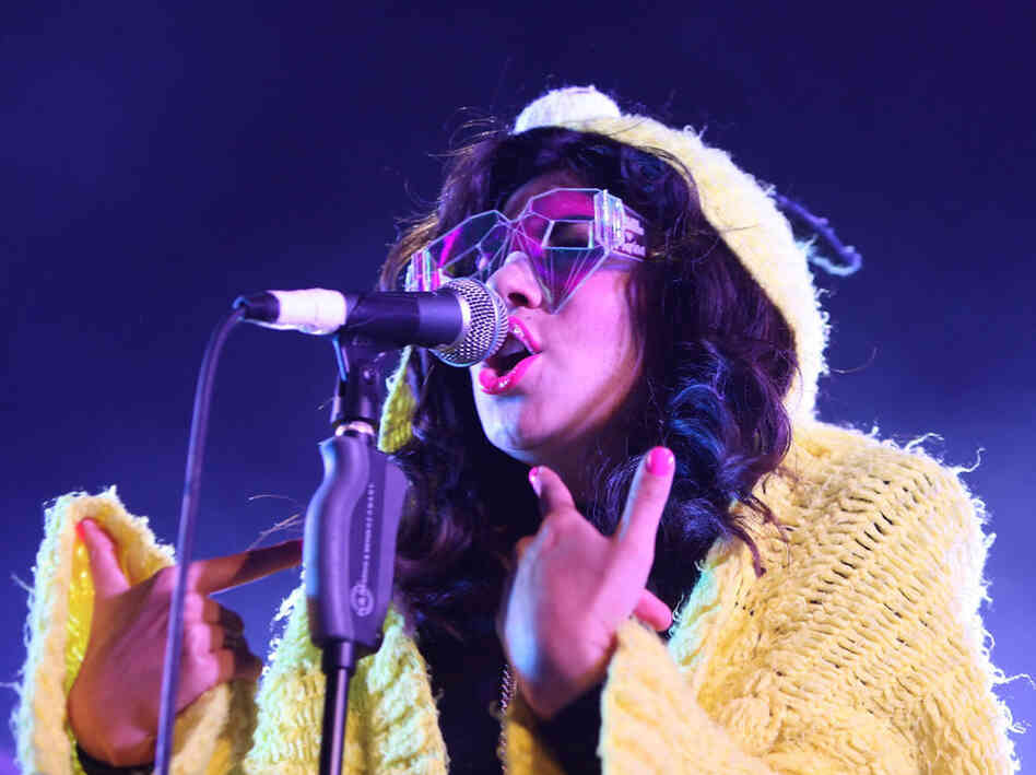 Marina Diamandis performs at the Reading Festival
