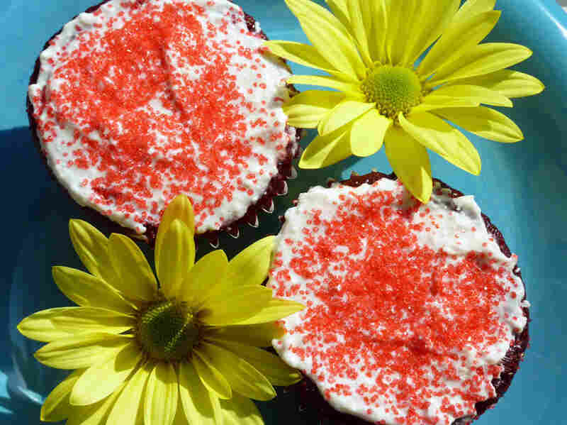 Red Velvet Cupcakes With Cream-Cheese Frosting