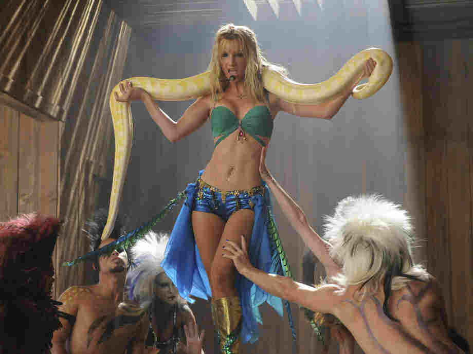 Heather Morris of Glee performing as Britney Spears