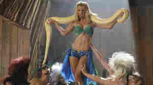 Heather Morris of Glee performing as Britney Spears