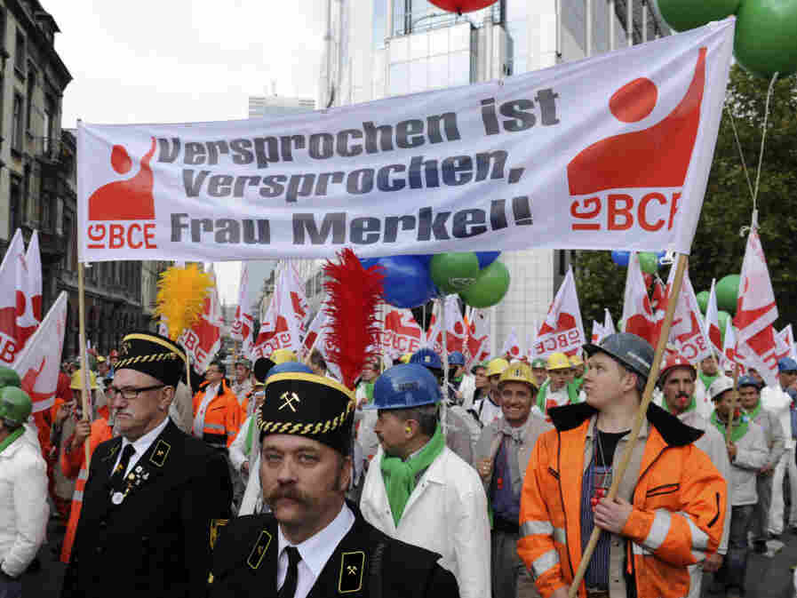 Union Protest in Brussels