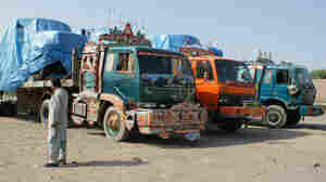 trucks at pak/afhgan border