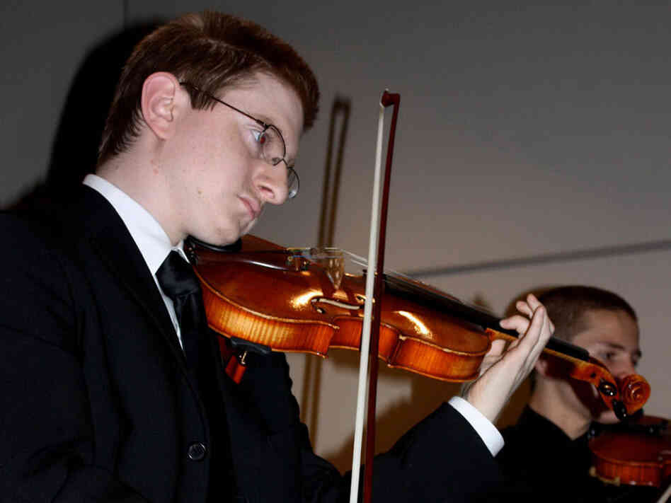 In this 2009 photo, Tyler Clementi plays with the Ridgewood High School Orchestra