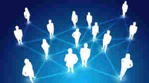 Networked group illustration