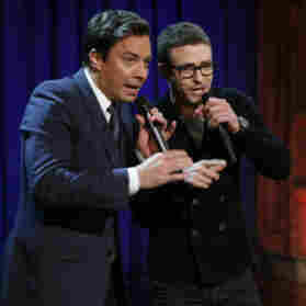 Justin Timberlake and Jimmy Fallon on Late Night with Jimmy Fallon