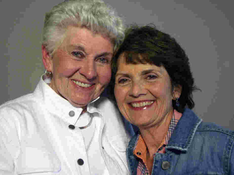 Patricia Bates, with her daughter, Kay Lewis, at StoryCorps in Dayton, Ohio.