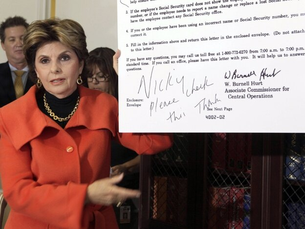 Gloria Allred with SS letter