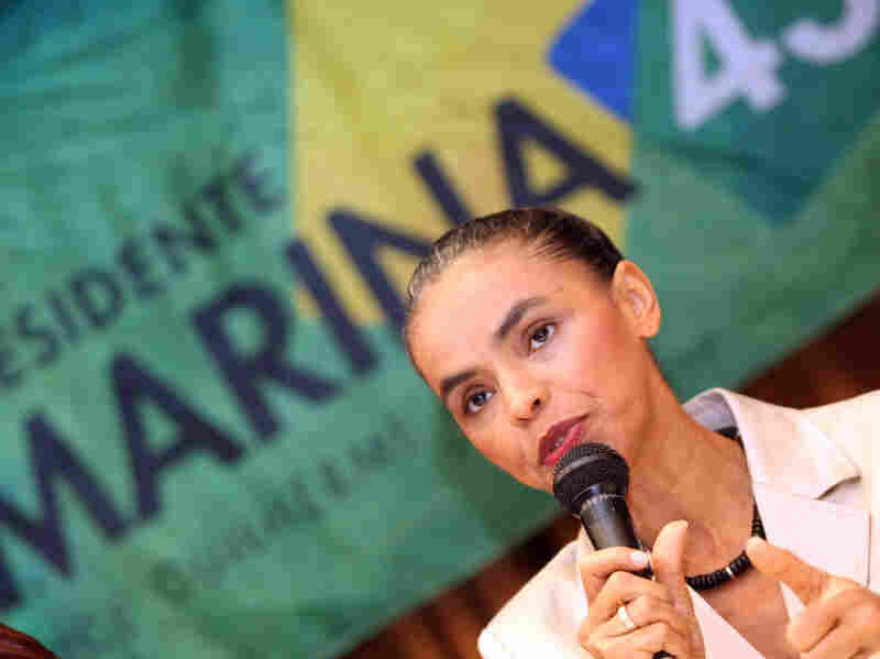 Marina Silva attends press conference in Rio