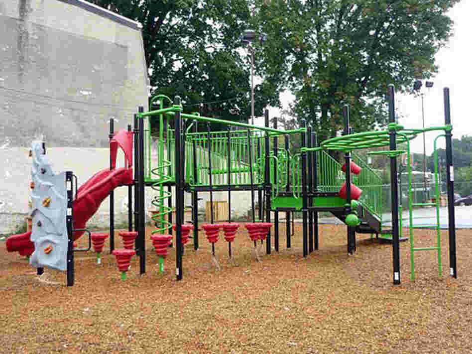 The playground at the Imani charter school