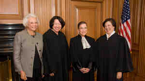 Sandra Day O'Connor, Sonia Sotomayor, Ruth Bader Ginsburg, Elena Kagan