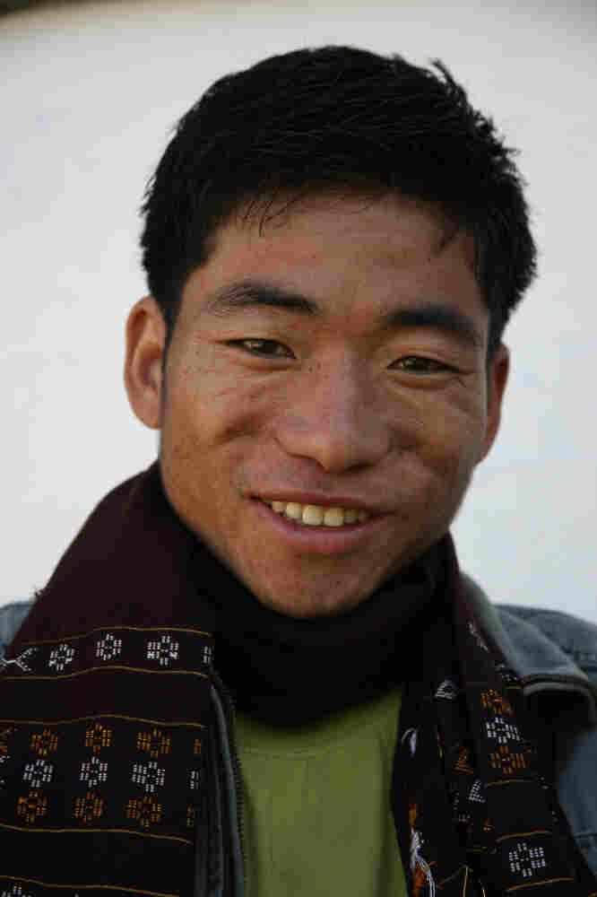 Koro speaker Sange Degio of the Kichang village in Arunachal Pradesh, India.