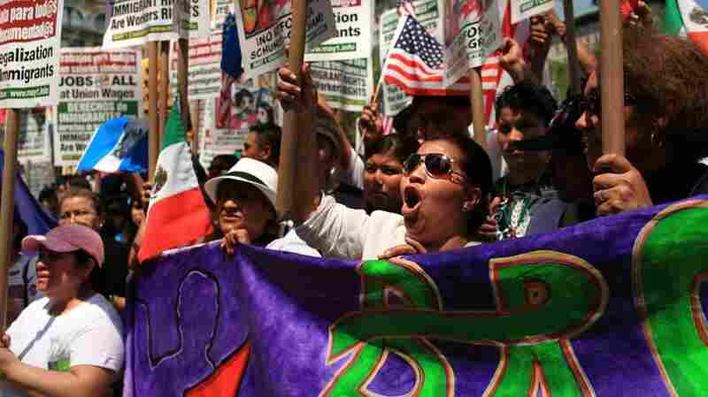 A protest in New York City on May 1, 2010.
