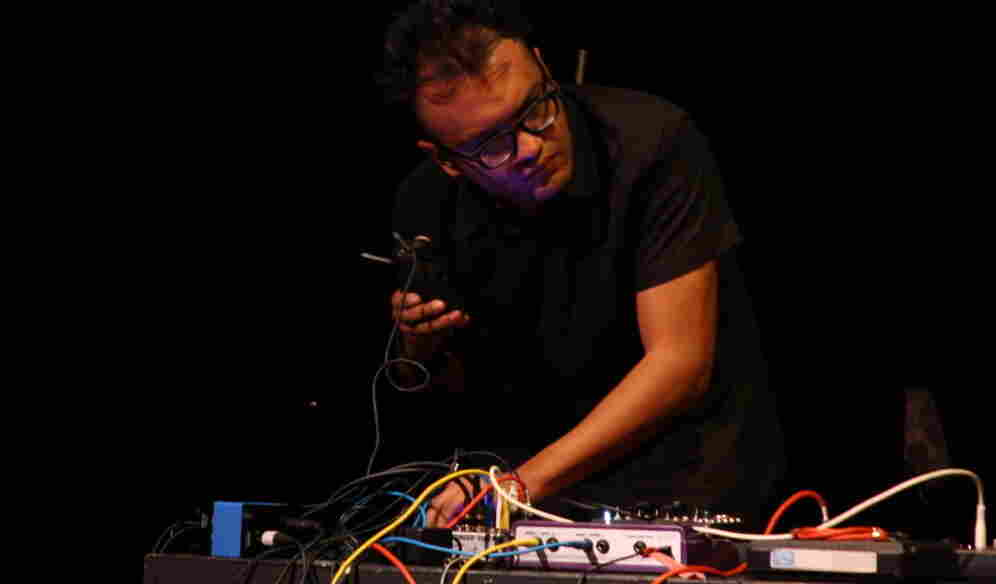 Juanjose Rivas performs at the 2010 High Zero Festival.