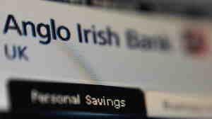 The Anglo Irish Bank logo is pictured on