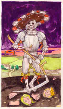 Death as a tarot card. iStockphoto.com