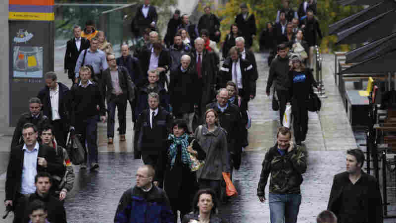 workers in central london during tube strikes
