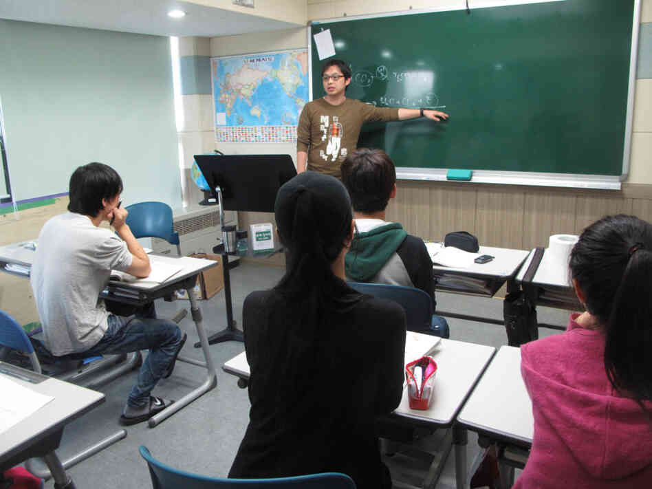Students at the Yeomyung school for North Korean defectors in Seoul