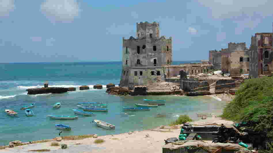 The view from a former Hotel in Mogadishu