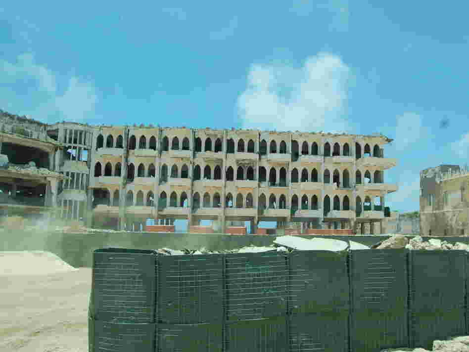 What was once a hotel in Mogadishu.