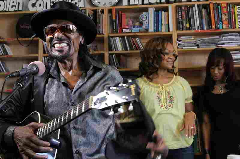 As the office's temperature rises, Chuck Brown teases the audience by taking off his suit jacket. September 15, 2010