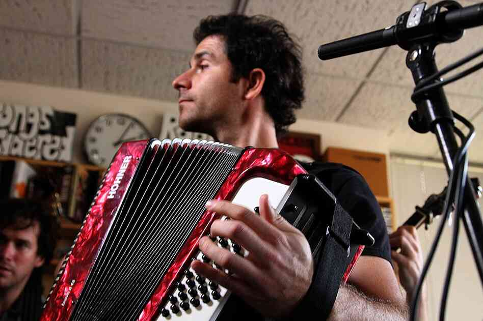 Rana Santacruz's accordion during his Tiny Desk Concert performance.  September 17, 2010