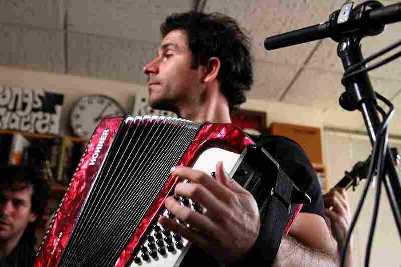 Rana Santacruz's accordion during his Tiny Desk Concert performance.  September 17, 2010