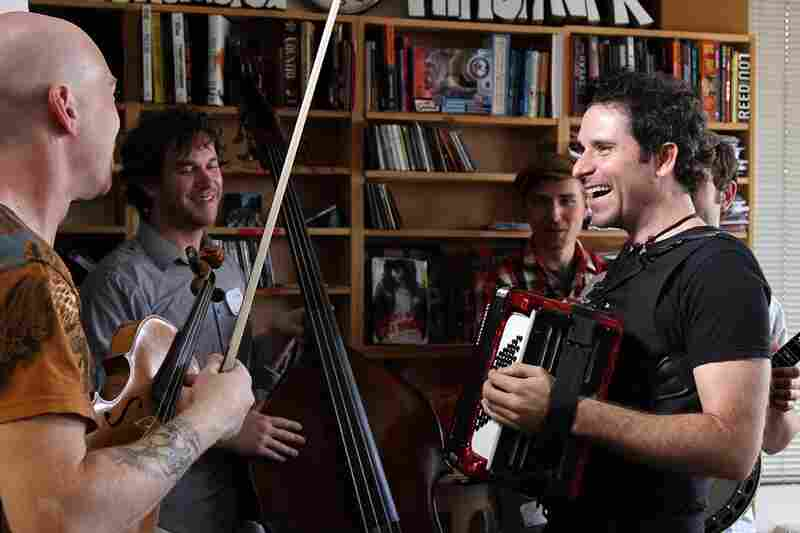 Rana Santacruz and bandmates during a soundcheck. September 17, 2010