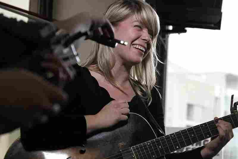 Basia Bulat playing a Tiny Desk Concert. September 27, 2010