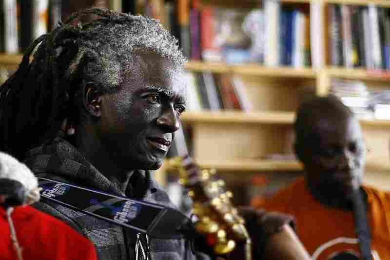 Sierra Leone's Refugee All-Stars playing behind Bob Boilen's desk. September 10, 2010