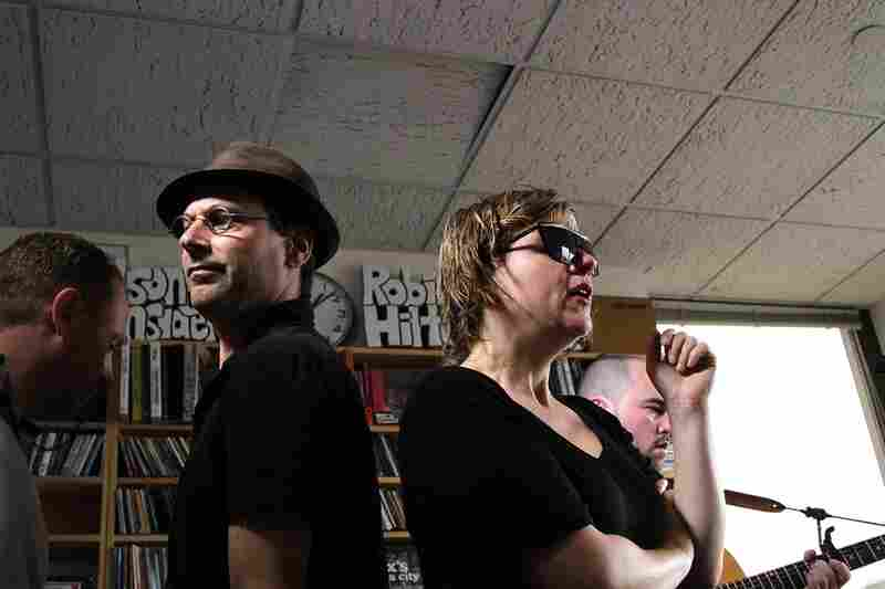 Bob Boilen walks through Stars as they do a soundcheck for their Tiny Desk Concert. September 29, 2010