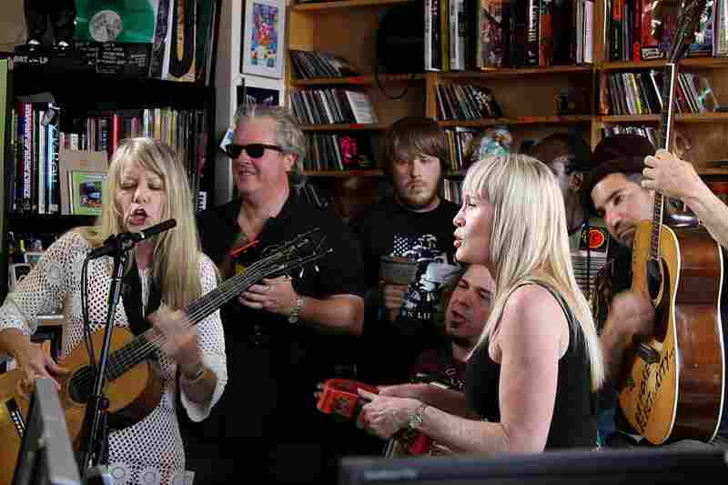 "Tom Tom Club singing classic hits ""Genius of Love"" and ""Wordy Rappinghood"" during their Tiny Desk Concert. September 23, 2010"