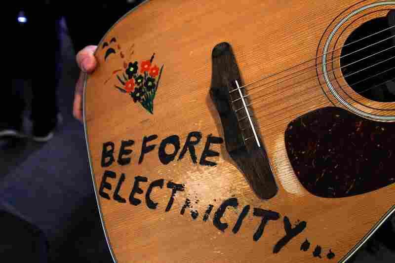 A close up of a guitar from Tom Tom Club. September 23, 2010