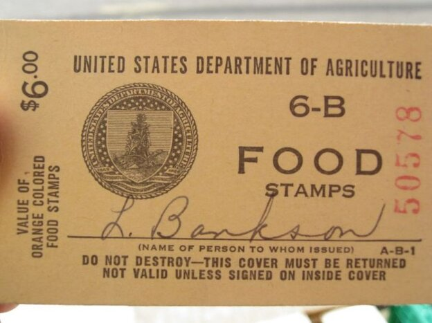 Picture of a USDA food stamp